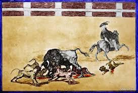 """Echan perros al toro"" Francisco de Goya (Tauromaquia 1.815)"
