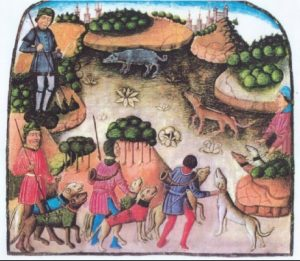En el Libro de la Montería de Alfonso XI el Justiciero se concibe el Alano como la mejor forma de llevar la máxima presa a la máxima velocidad hasta el objetivo