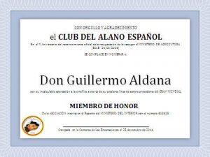 """Don Guillermo Aldana, miembro más longevo del Club, socio de honor, y criador del mítico """"Mundial""""."""